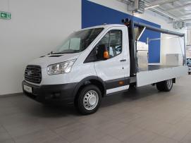 Ford Transit Pritsche mit Ladegutträger 2,0 TDCi L2H1 350 Trend HECK ZW ( € 25.980,– exkl. / NEUES MODELL) bei BM || Ford Danner PKW in
