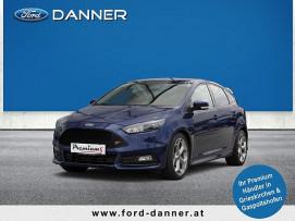 Ford Focus ST EcoBoost 250PS (1. BESITZ, RECARO, LEDER, XENON, NAVI, uvm.) bei BM || Ford Danner PKW in